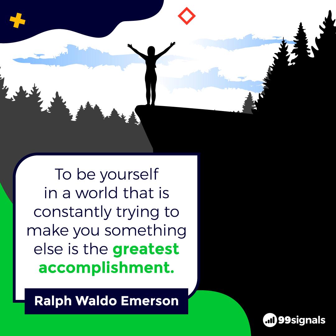Ralph Waldo Emerson Quote - Inspirational Quotes for Entrepreneurs
