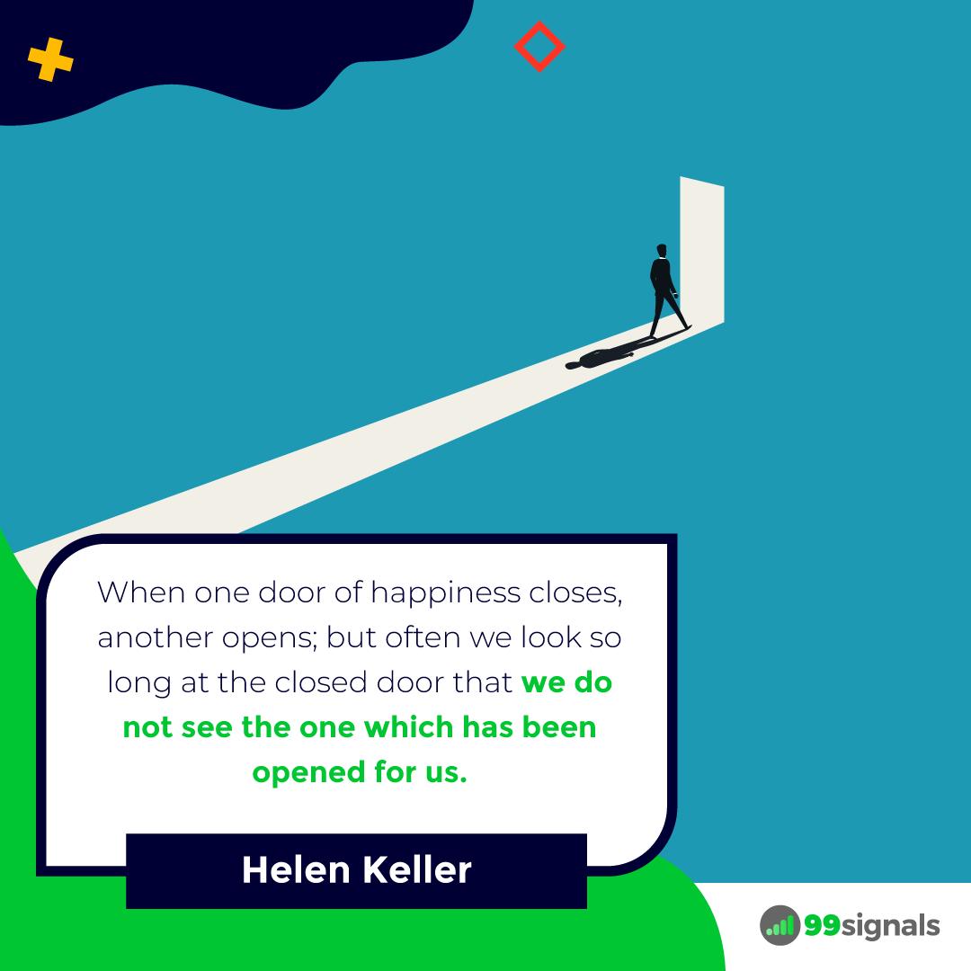Helen Keller Quote - 99signals