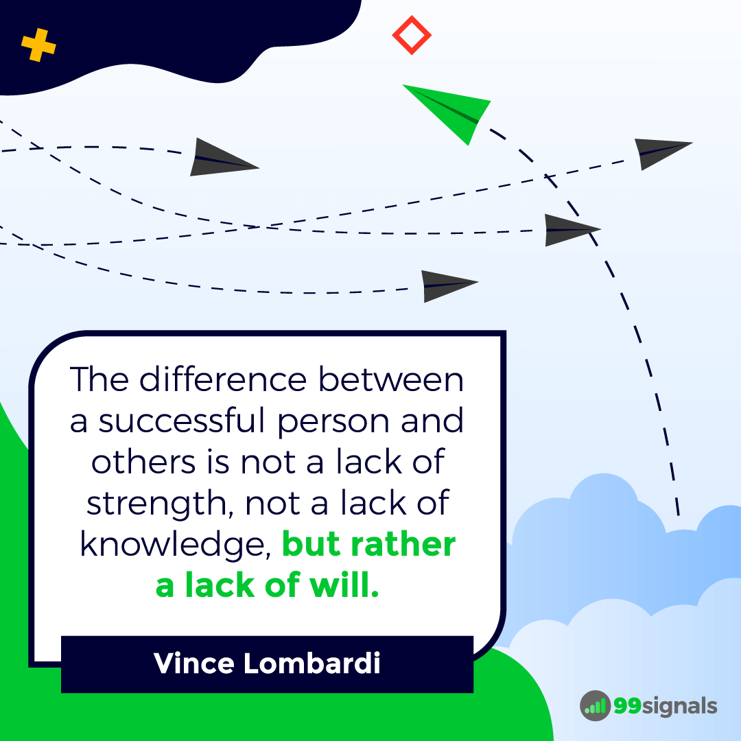 Vince Lombardi Quote - Inspirational Quotes for Entrepreneurs