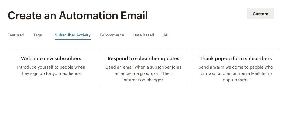 Mailchimp automation features