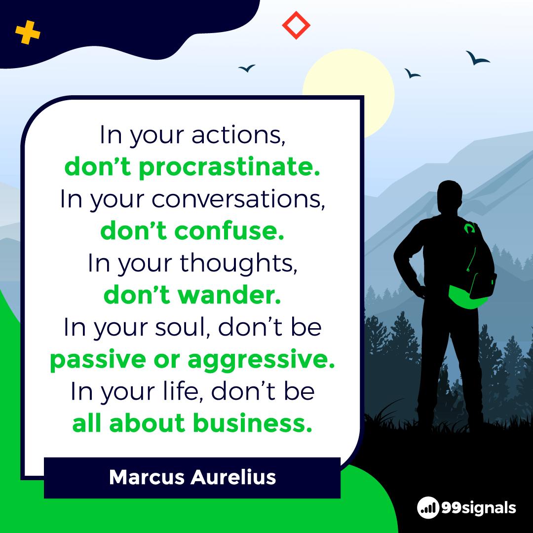 Marcus Aurelius Quote - Motivational Quotes for Entrepreneurs
