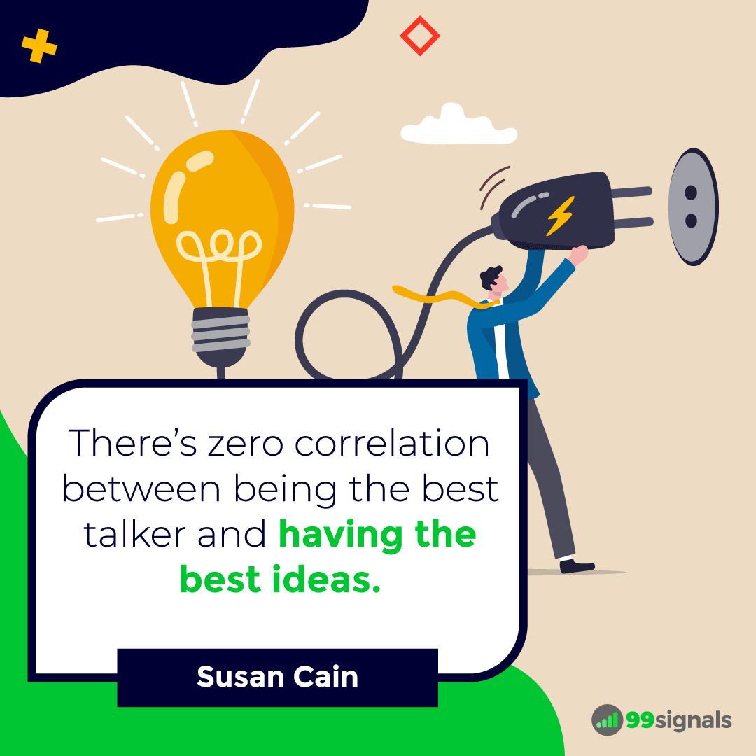 Susan Cain Quote - 99signals