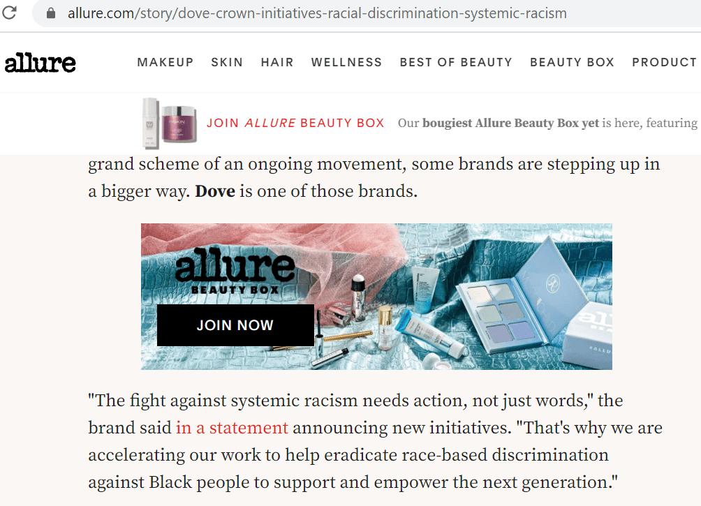Allure article