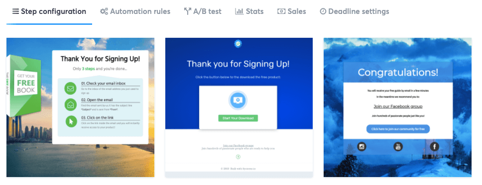 Systeme.io Thank You Page Templates