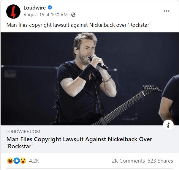 Loudwire FB post