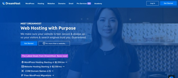 DreamHost Web Hosting - Best Web Hosting Plans for Bloggers