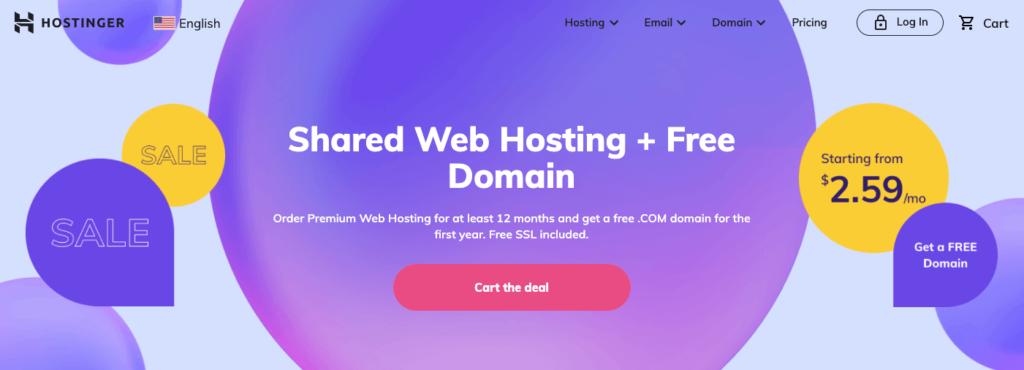 Hostinger Web Hosting - Best Web Hosting Plans for Bloggers