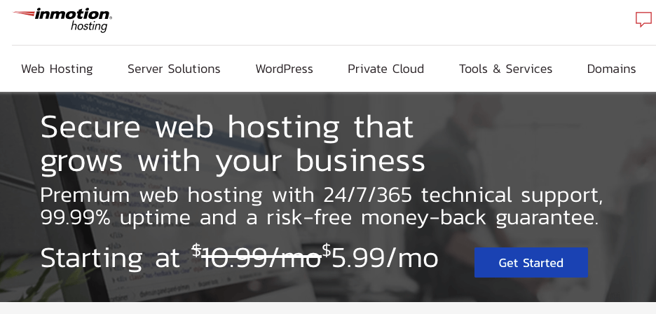 InMotion Hosting - Best Web Hosting Plans for Bloggers